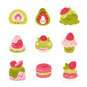 Strawberry Matcha