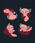 Axolotl with magic pearl 2
