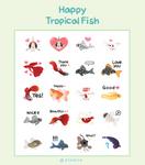 [ Sticker packs ] Happy Tropical fish