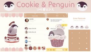 LINE theme  Cookie penguin