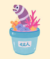 Eel flower pot by pikaole