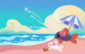 Cory cats on vacation by pikaole