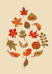 Sad fallen leaves