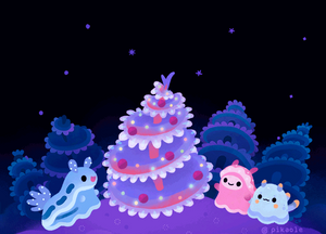 Merry christmas tree worm by pikaole