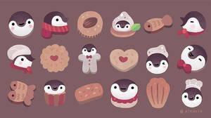 Cookie  cream  penguin
