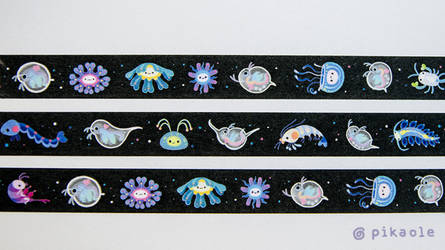 Zooplankton washi tape by pikaole