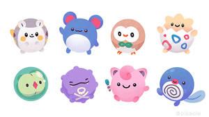 Round pokemons
