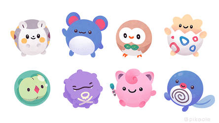 Round pokemons by pikaole