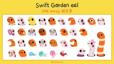Swift garden eel LINE emoji by pikaole
