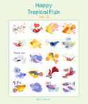 Happy tropical fish ver.2