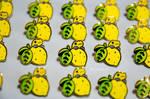 Lemon Poison Dart Frog pin