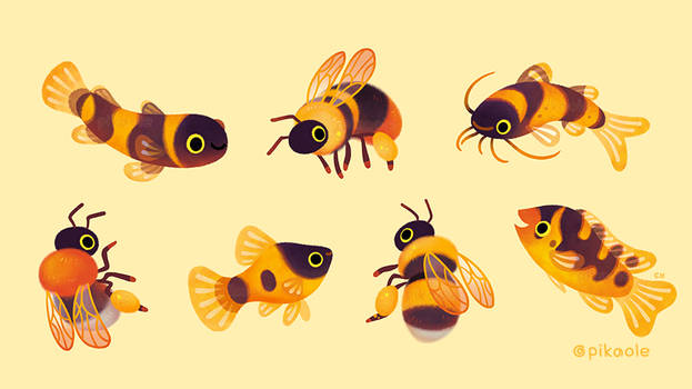 Bumblebee and fish