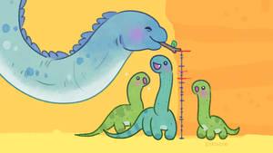 Diplodocus measuring height