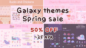 Galaxy themes Spring sale : 50% OFF