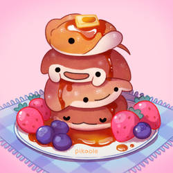 Fluffy sea pancakes