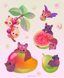 Fruit and bat