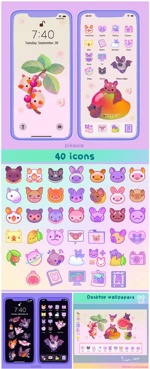 Bat icon wallpaper pack (iOS, desktop) for patreon