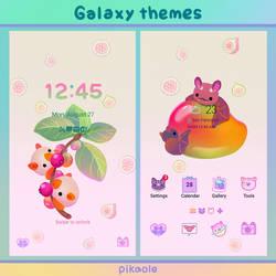 Fruit and bat galaxy themes