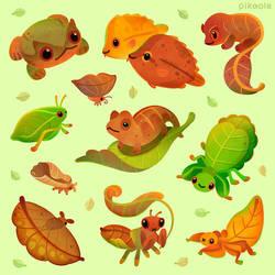 Leaf mimics