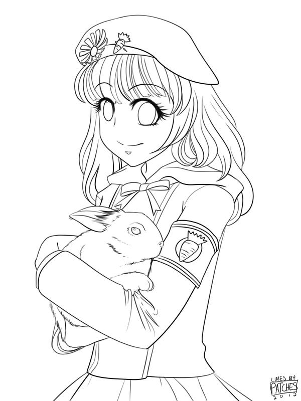 anime bunny coloring pages - photo#3