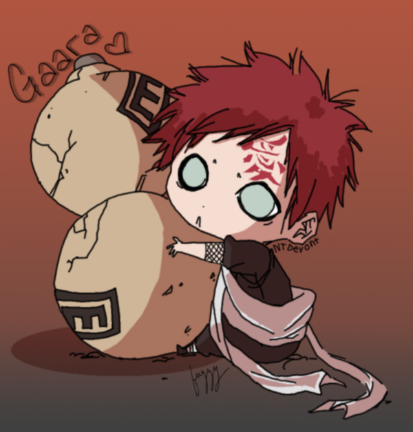 Chibi Gaara by fuzzyshark5 on DeviantArt Gaara And Naruto Chibi