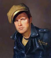 Marlin Brando oil painting by OLDSCHOOLDAN
