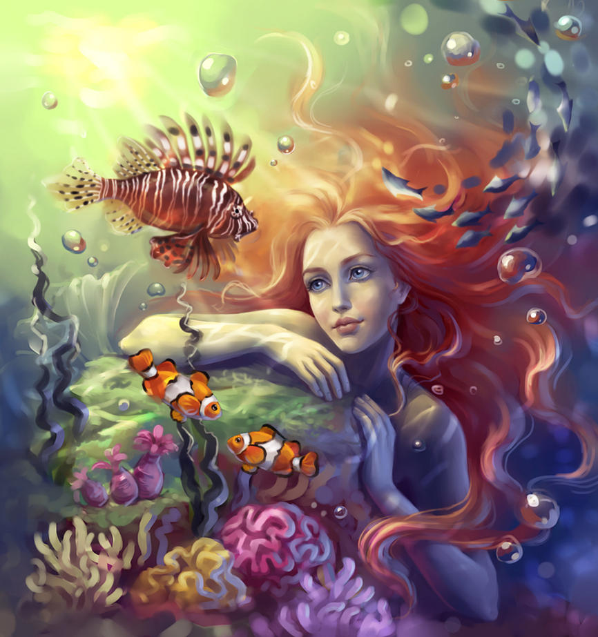 Balszerencse fiai: Özönvíz, vagy mégse? Mermaid_by_sharandula-d3d1wmu