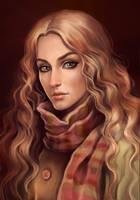 The girl in a coat by sharandula