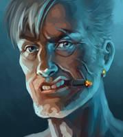 man with a cigar by sharandula