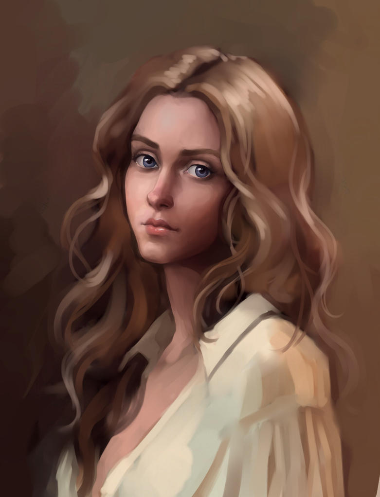 This is a graphic of Smart Brown Haired Girl Drawing