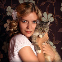 Me and my cat Basiliska by sharandula