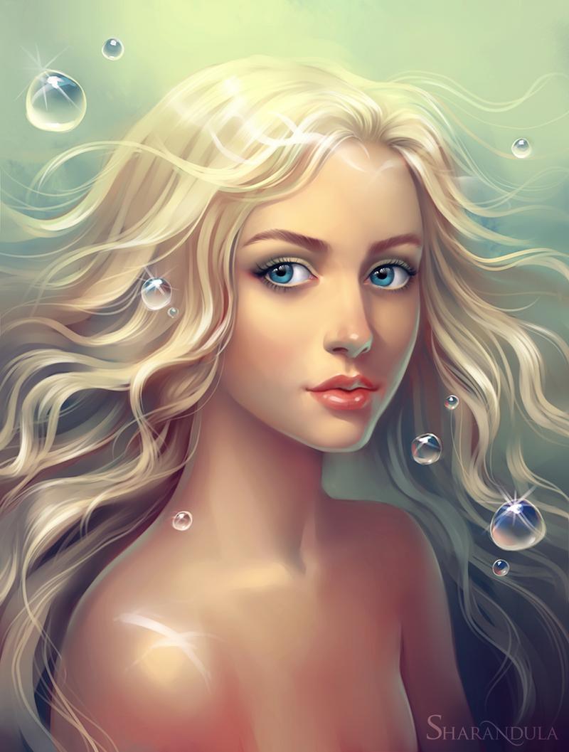 little mermaid by sharandula