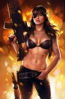 Michelle Rodriguez (study) by sharandula