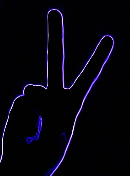 Neon Purple Peace by lonepaws on DeviantArt