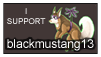 I Support blackmustang13 ~ STAMP by lonepaws