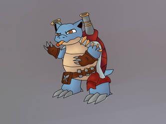 Pokemon X League of Legends - Blastoise + Graves by DiegoDraws-Yan