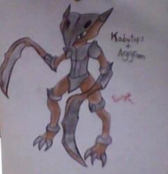 Pokemon Fusion - Kabutops + Aggron by DiegoDraws-Yan