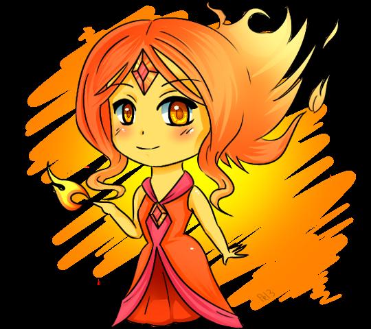Chibi Flame Princess by xoprb on deviantART