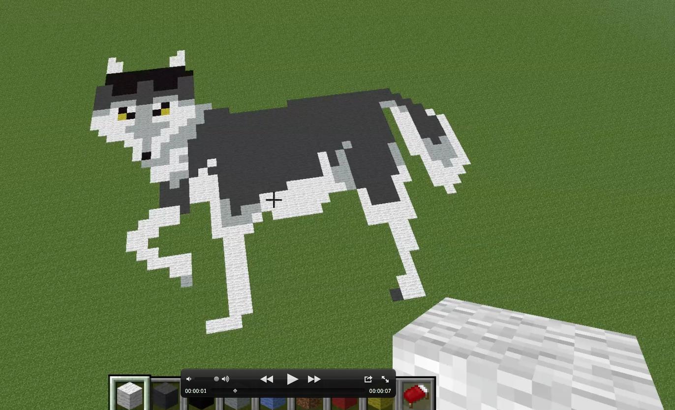 Minecraft Cat Face Pixel Art