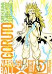 Goruto Sage Kurama Link Mode Super Saiyan 3