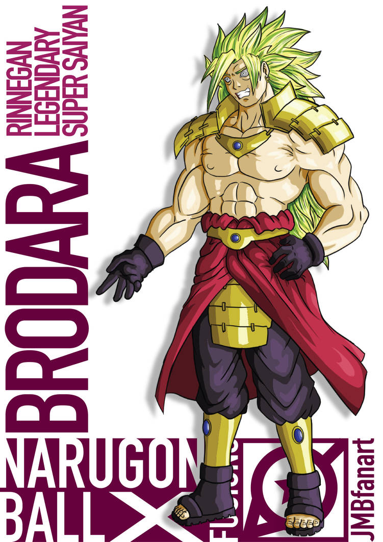 Brodara Rinnegan LSSJ (Madara and Broly Fusion) by JMBfanart