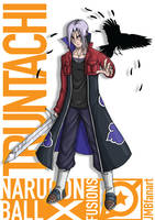 Truntachi (Future Trunks and Itachi fusion) by JMBfanart