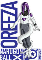 Oreeza (Freeza and Orochimaru fusion) by JMBfanart