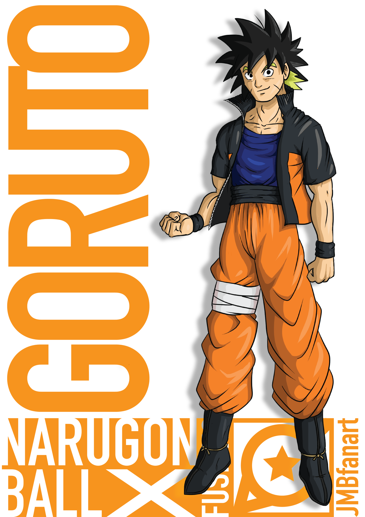 goruto goku and naruto fusion by jmbfanart