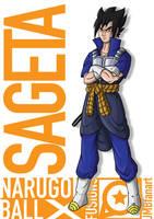 Sageta (Vegeta and Sasuke fusion) by JMBfanart