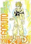 Goruto Kyuubi Chakra Mode Super Saiyan 2