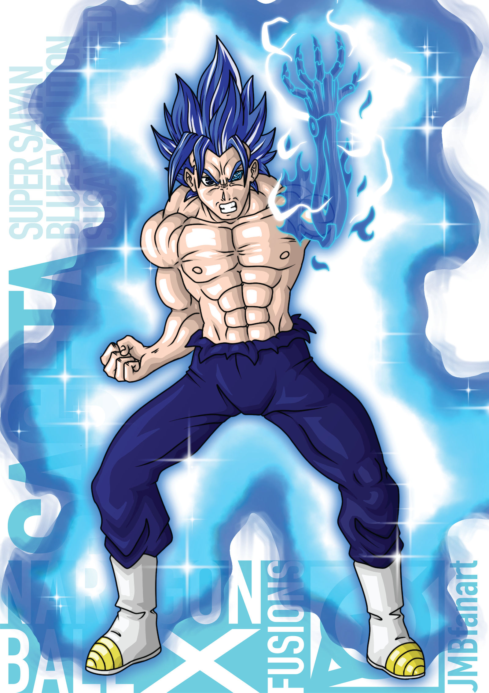 Sageta Super Saiyan Blue Evolution Susanoo Infused By