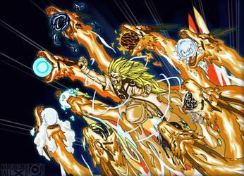 Kyuubi Ryu Ken! (Nine-Tails Dragon Fist) by JMBfanart