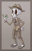 -un squelette avec un chapeau- by weird-science