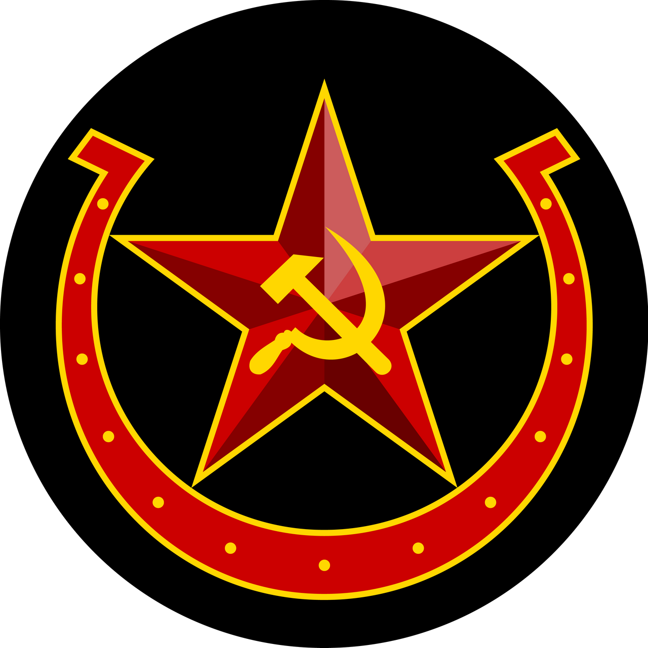 Soviet Equestria hammer-sickle-horseshoe w/BG by QTMarx on ...